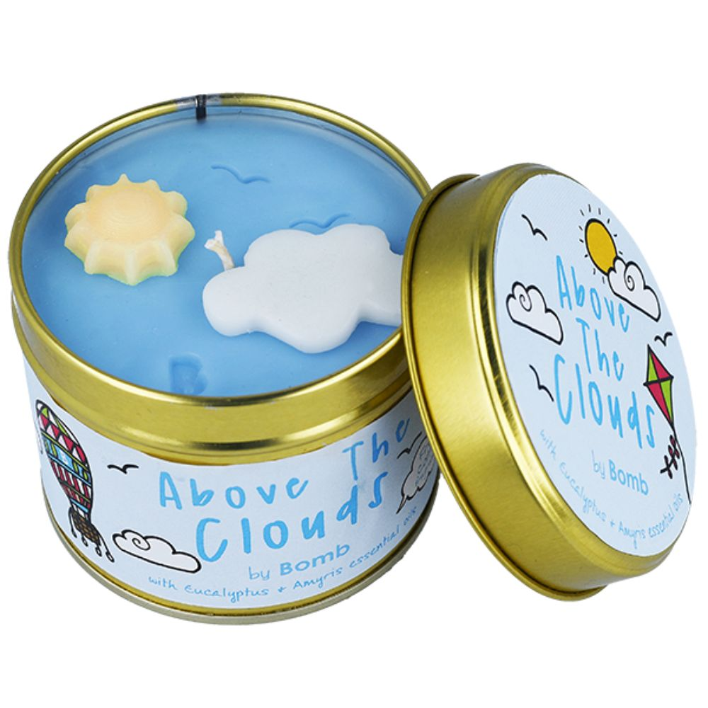 Above the Clouds Tin Candle