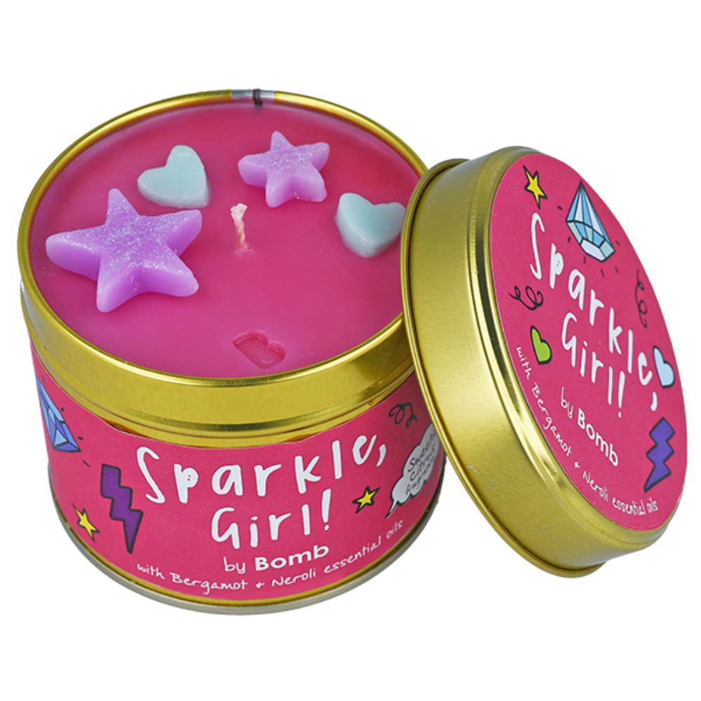 Sparkle Girl! Tin Candle
