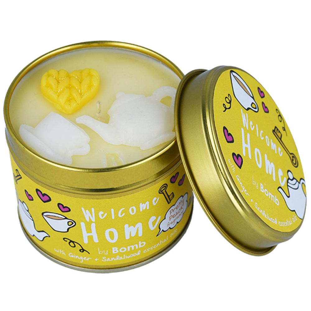 Welcome Home Tin Candle