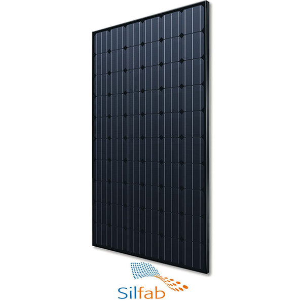 Silfab 310w Mono Black North American Made Solar Panel