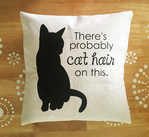 There's probably cat hair on this pillow