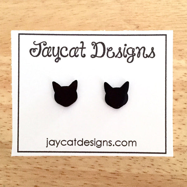 small cat earrings
