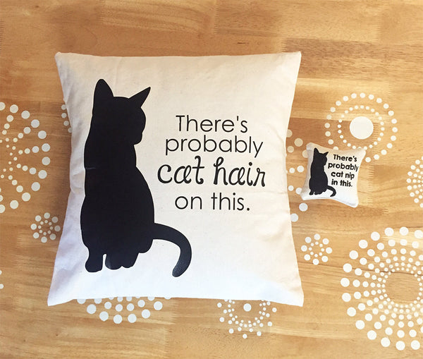 the original there's probably cat hair on this pillow cover