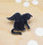 glittery black cat pin