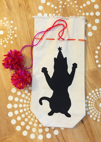 Cat Wine Gift Bag