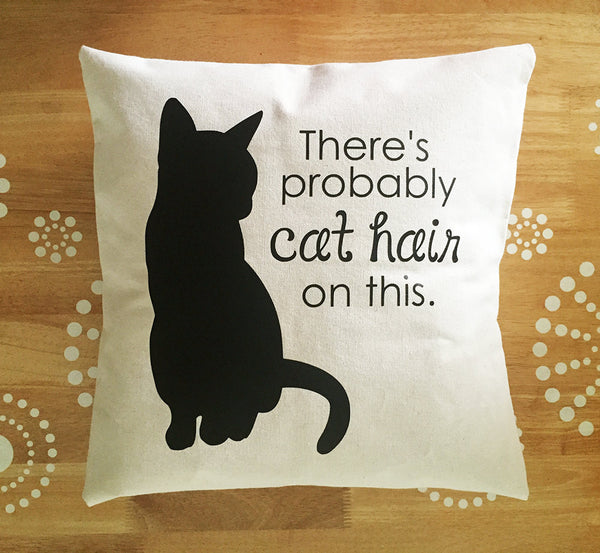 the original probably cat hair on this pillow cover