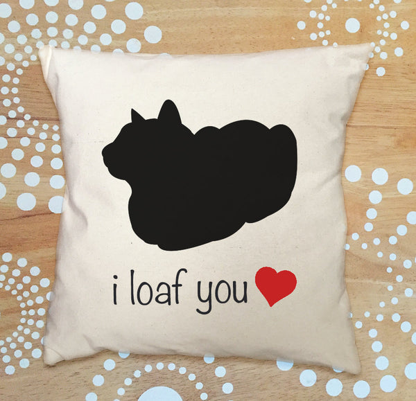 loafing cat pillow cover