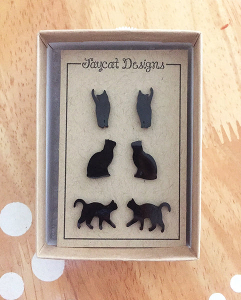 cat earrings gift set
