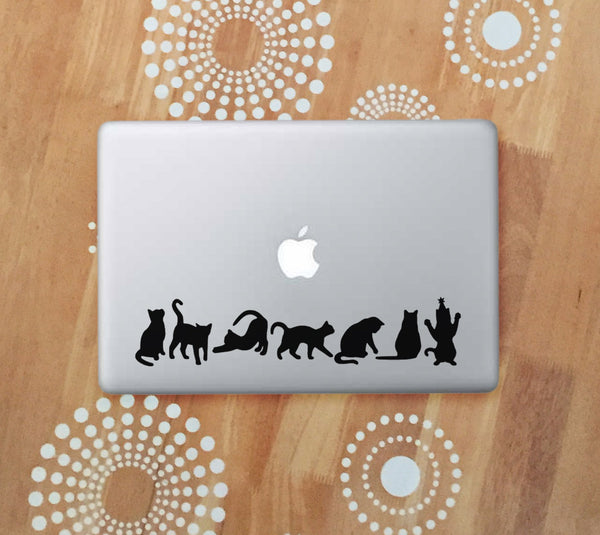 black cat vinyl laptop decals