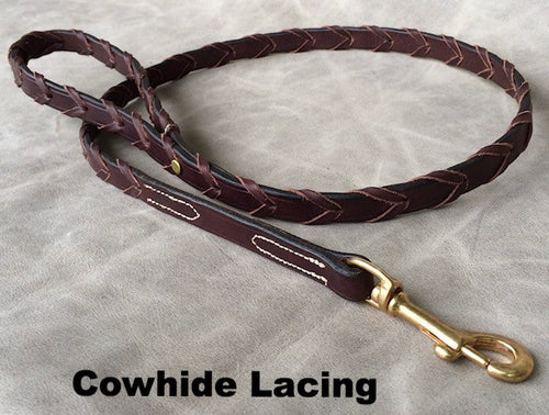 Laced Leather Leash