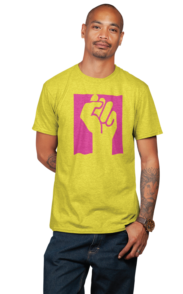 Black Power Fist-Yellow Jersey Tee