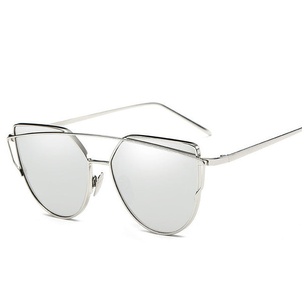 Lennon Oversized Mirror Sunglasses