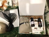 "Special Relaxing Blends Gift Set with ""Vitaceae"" Picture Jasper Lava Bead Aroma Bracelet and two Essential Oil Diffuser Blends"