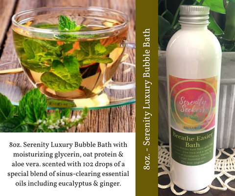Breathe Easier - Therapeutic Essential Oils Luxury Bubble Bath