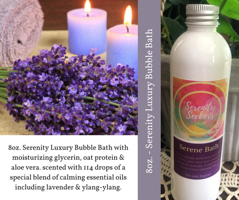 Serene Bath - Therapeutic Essential Oils Luxury Bubble Bath