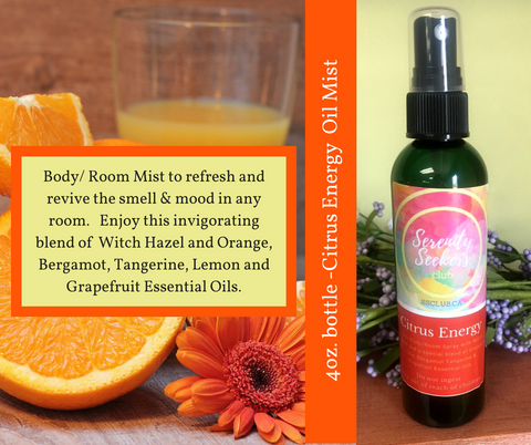 Citrus Energy Essential Oil Body/Room Mist