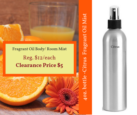 Fragrance Oil Spray - Citrus