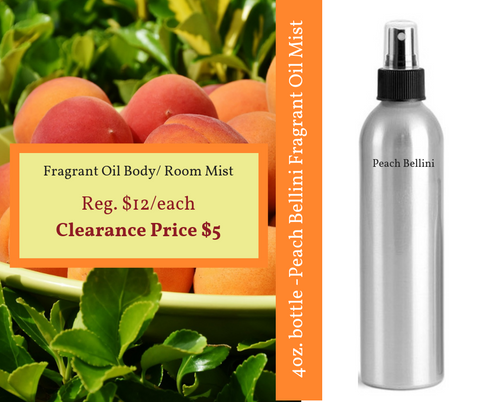 Fragrance Oil Spray - Peach Bellini