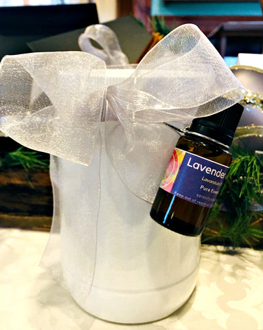 Glass Jar Epsom Salts with 15ml Lavender Essential OIl - Only Four Available at Sale Price!