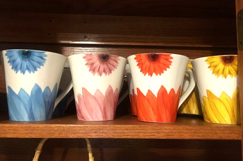 Set of 8 Beautiful Coffee Mugs - ONLY One Set Available!