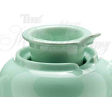 Tea Pot - Loose Leaf - 3 Cup Ceramic - Sea Foam - ONLY ONE Available!