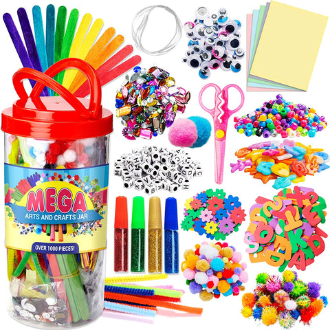 Roll over image to zoom in Dragon Too Mega Kids Crafts and Art Supplies Jar Kit