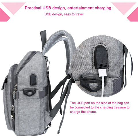 Image of Stylish and Low Key Backpack Design Diaper Bag for Mothers