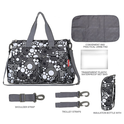 Image of Large Capacity Waterproof Baby Diaper Bag
