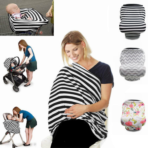 Image of Multipurpose Breastfeeding Coverup Shawl, Baby Swaddle Blanket