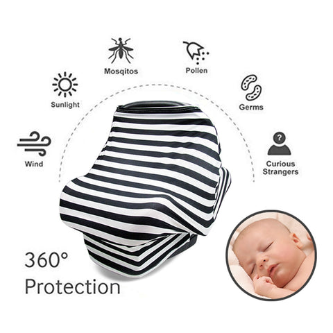 Multipurpose Breastfeeding Coverup Shawl, Baby Swaddle Blanket
