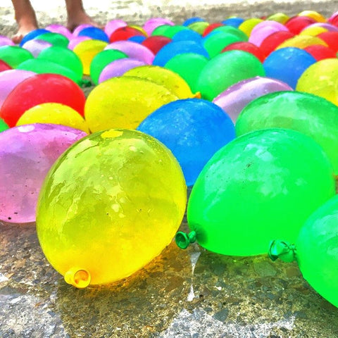 Image of Quick Fill Balloon Latex Water Balloons, Colorful Air Balloons, Biodegradable - Sobrinos