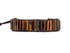 Boho Tiger Eye Leather Bracelet