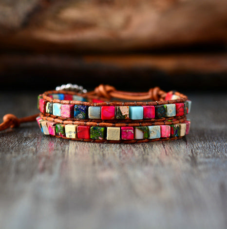 Boho Natural Leather Bracelet