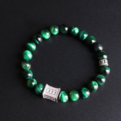 Natural Green Cobra Eye Bracelet