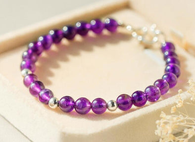 Natural Purple Amethyst Bracelet