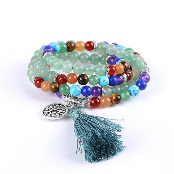 Green Aventurine Multi-layer Chakra Bracelets