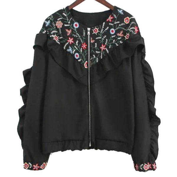 Embroidered Ruffle Jacket, outerwear, The Gipsy Corner, The Gipsy Corner