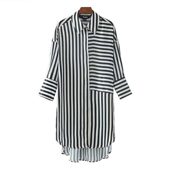 Shirt Dress with stripes