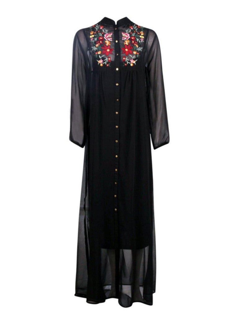 Long Embroidered Dress, Dress, The Gipsy Corner, The Gipsy Corner