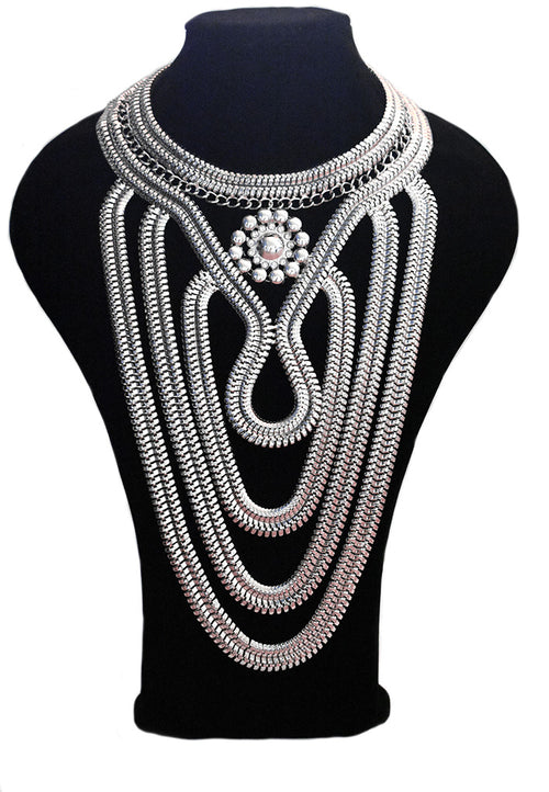 Neish Statement Necklace - Silver