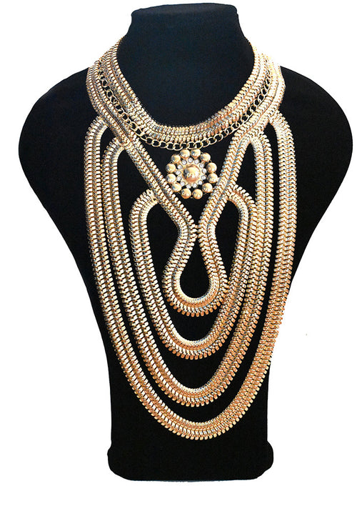 Neish Statement Necklace - Gold