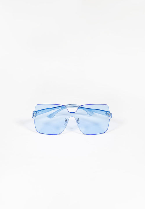 Tinted Blue Oversized Sunglasses