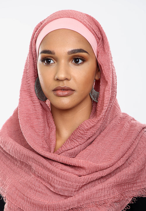Crepe Headscarf - Pink