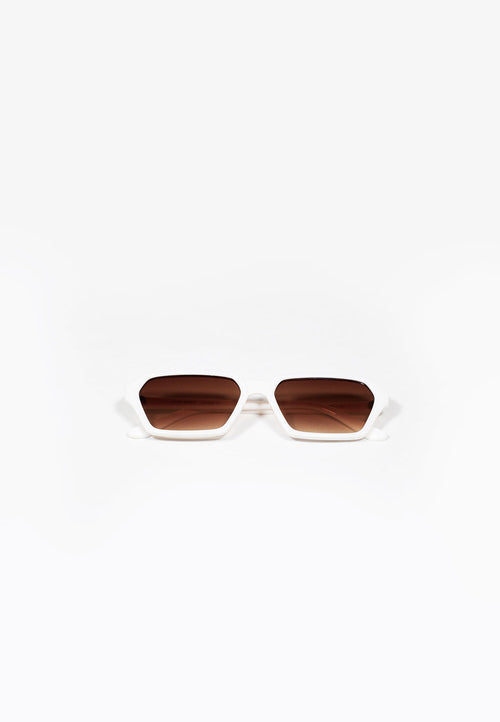 White Slimline Sunglasses