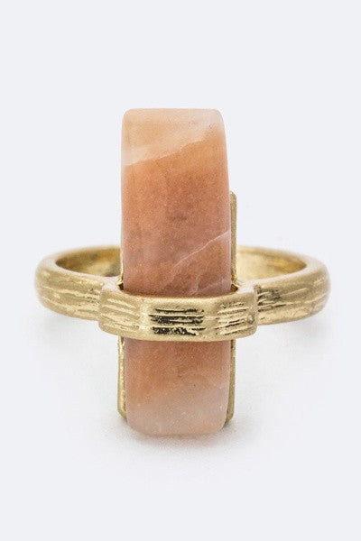 Semi Precious Bar Ring