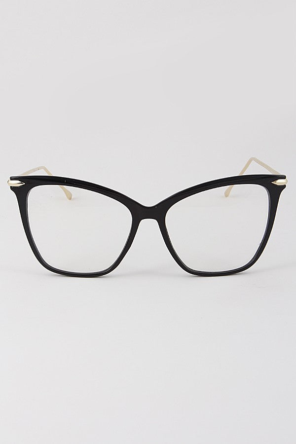 Jay Cat Eye Clear Glasses