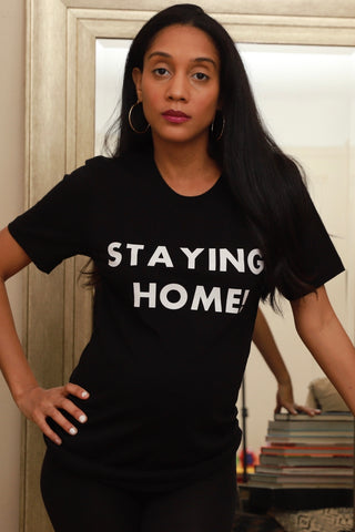Staying Home Adult T-shirt