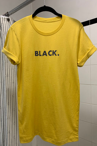 Black. Statement T-shirt