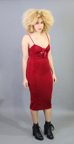 Chloe Velvet Midi Dress