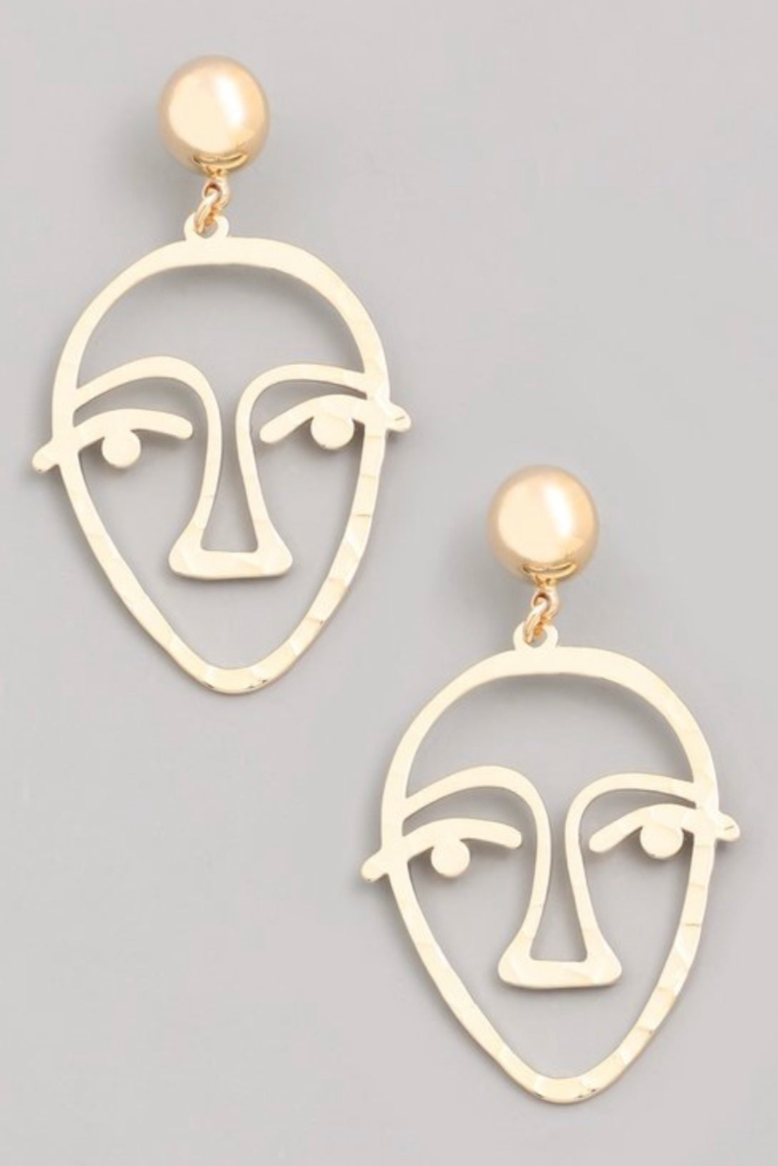 Face Shaped Statement  Earrings